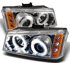 2002-2006 Chevy Silverado, Avalanche CCFL LED Projector Headlights – Chrome