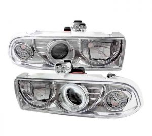 1998-2005 Chevy S-10, Blazer CCFL Projector Headlights – Chrome