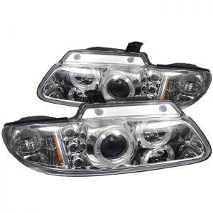 1996-2000 Dodge Caravan / Grand Caravan Halo LED Projector Headlights (Replaceable LEDs) – Chrome
