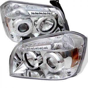 2005-2007 Dodge Magnum Halo LED Projector Headlights (Replaceable LEDs) – Chrome