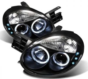 2003-2005 Dodge Neon Halo LED Projector Headlights (Replaceable LED's) – Black