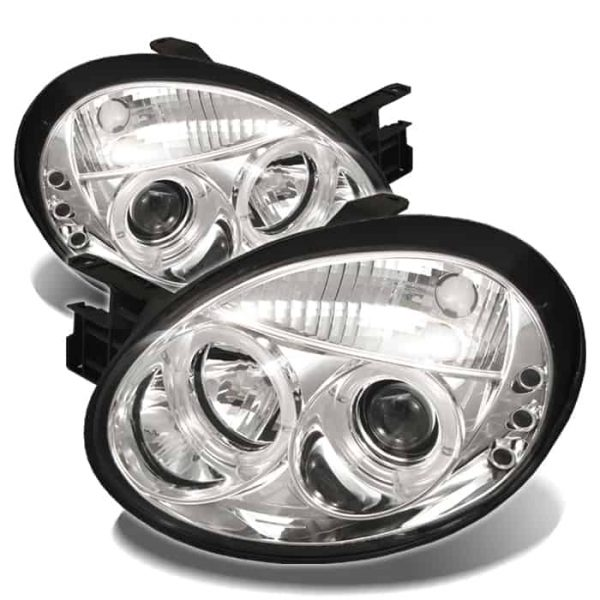 2003-2005 Dodge Neon Halo LED Projector Headlights (Replaceable LED's) – Chrome