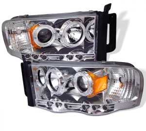 2002-2005 Dodge Ram Halo LED Projector Headlights (Replaceable LED's) – Chrome