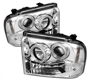 2005-2007 Ford F250/350/450 Super Duty CCFL LED Projector Headlights (Replaceable LEDs) – Chrome