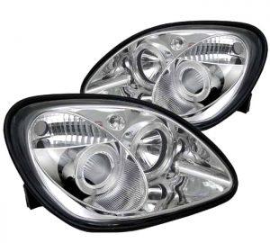1998-2004 Mercedes Benz SLK Halo Projector Headlights – Chrome