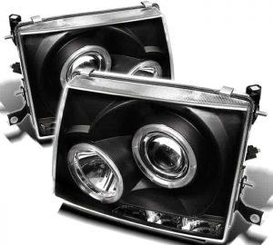 1997-2000 Toyota Tacoma Halo LED Projector Headlights – Black