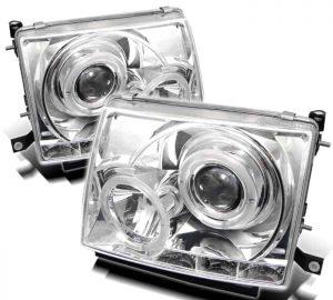 1997-2000 Toyota Tacoma Halo LED Projector Headlights – Chrome