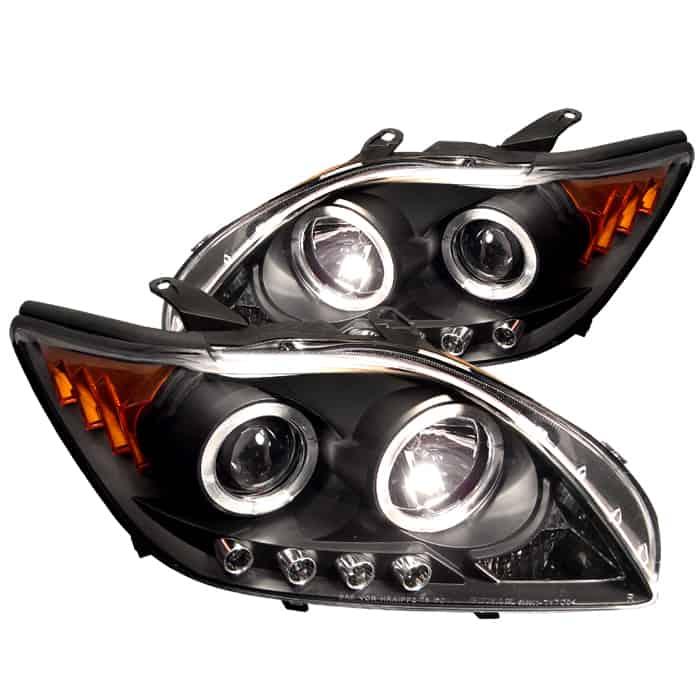 Scion Tc Headlights >> 2004 2006 Scion Tc Halo Led Projector Headlights Black