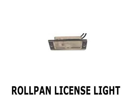Hook up license plate light