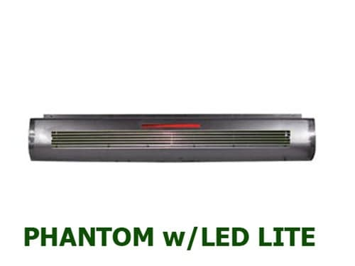 1987-1996 FORD F150, F250, F350 STEPSIDE Steel Rollpan - Full Phantom Billet Insert w/ 1 LED Strip