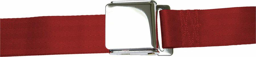 2 Point Burgundy Lap Seat Belt with Airplane Lift Buckle