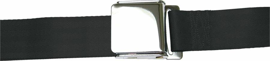 2 Point Black Lap Seat Belt with Airplane Lift Buckle