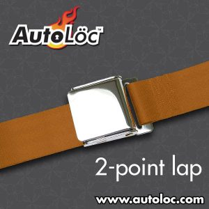 2 Point Copper Lap Seat Belt with Airplane Lift Buckle