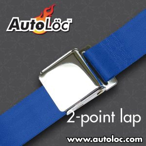 2 Point Dark Blue Lap Seat Belt with Airplane Lift Buckle