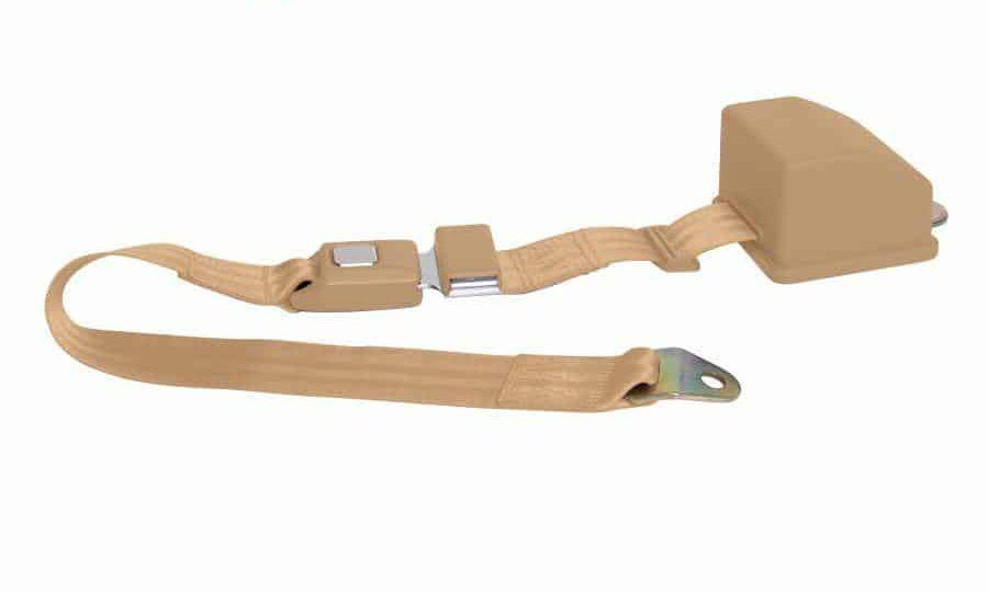 2 Point Retractable  Peach Lap Seat Belt  (1 Belt)