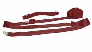 3 Point Retractable Burgundy Seat Belt (1 Belt)