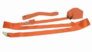 3 Point Retractable Orange Seat Belt (1 Belt)