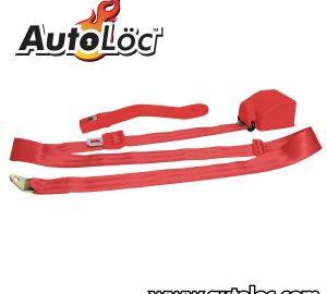 3 Point Retractable Red Seat Belt (1 Belt)