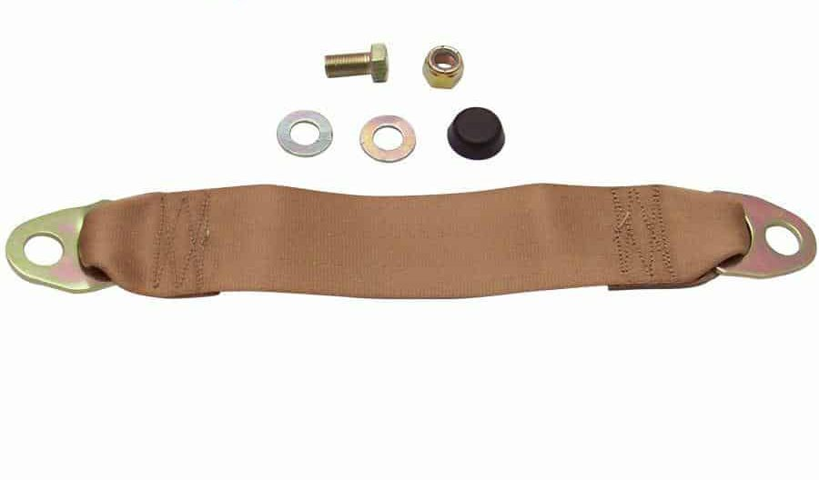 Tan Seat Belt Extender, 12 Inches
