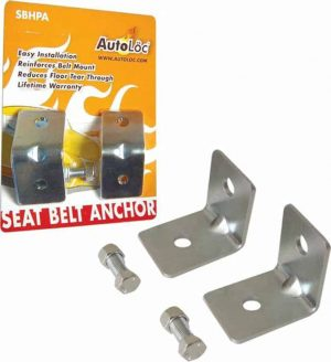 Angled Seat Belt Anchor Plate Hardware Pack