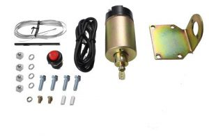 Single Door Popper Solenoid Kit with Switch, Brackets, and Hardware – 85lb