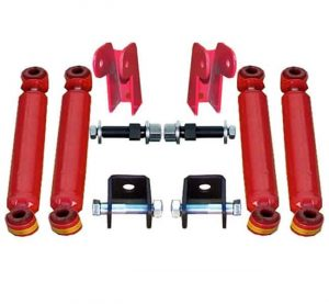 Universal Shock Relocation Kit, Weld or Bolt (w/Shocks) (4 Shock Kit)