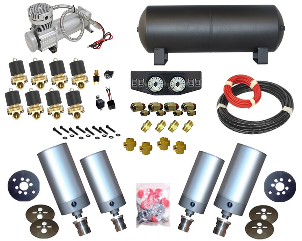 1995-2004 Dodge Stratus 4Dr Sedan, Sebring Complete Air Suspension Kit - Cylinder Kit