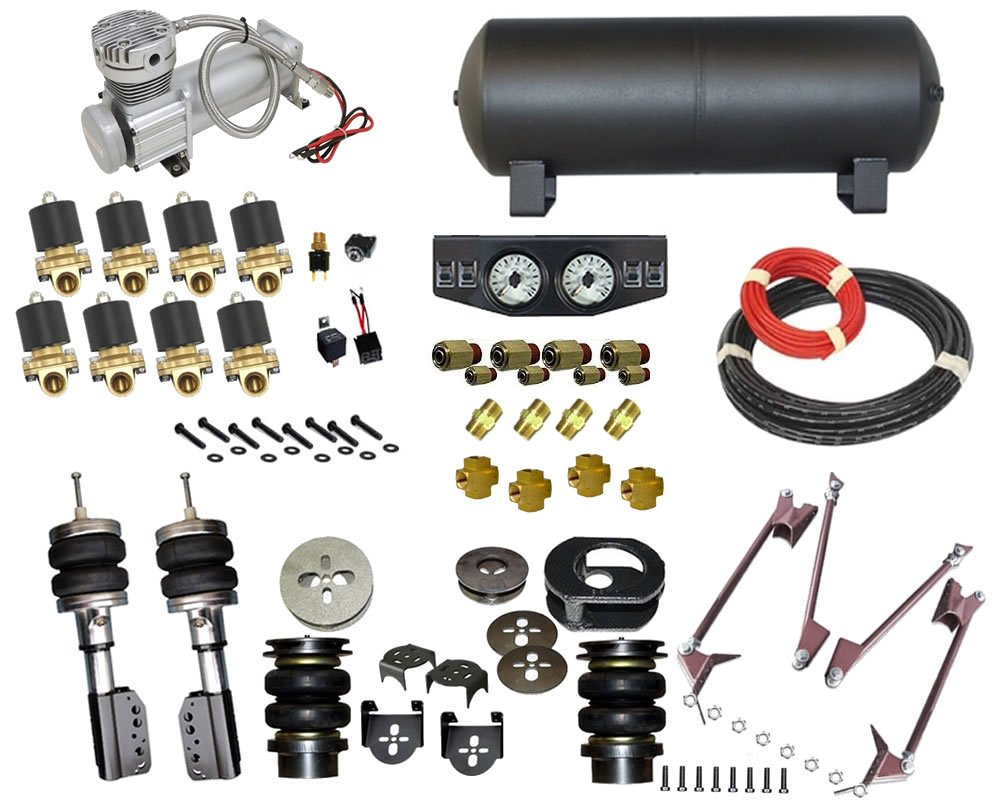 2009-2015 Toyota Tacoma, Hilux, Prerunner Complete Air Suspension Kit