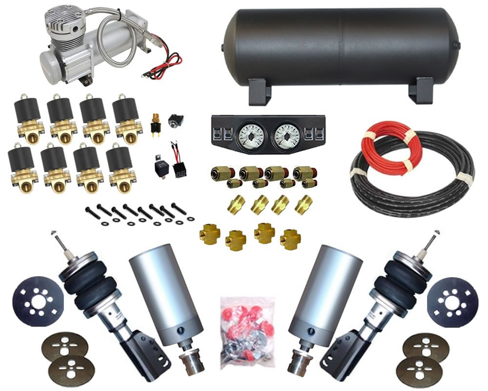 1993-2002 Volkswagen Cabrio, Jetta, 2wd Complete Air Suspension Kit