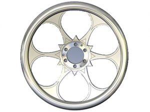 Full Custom Billet Steering Wheel – 6 Spoke