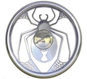Full Custom Billet Steering Wheel – Black Widow Spider