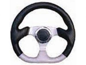 6 Hole Custom Steering Wheel – Black, Grey