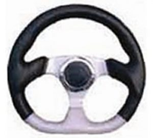 6 Hole Custom Steering Wheel – Black, Grey