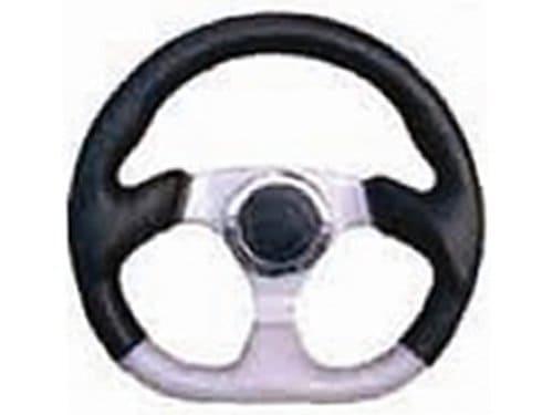 6 Hole Custom Steering Wheel - Black, Grey