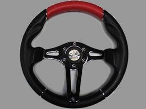 5 Hole Custom Steering Wheel – Red, Black, Black Center