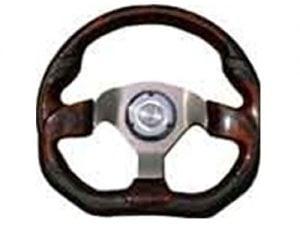 6 Hole Custom Steering Wheel – Black, Wood