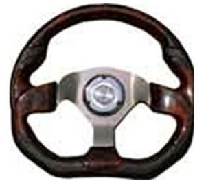 6 Hole Custom Steering Wheel – Black, Wood