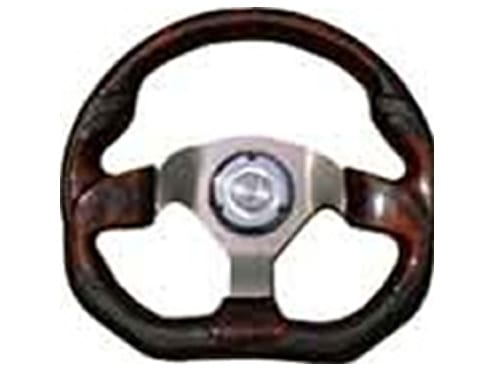 6 Hole Custom Steering Wheel - Black, Wood