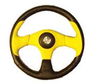 6 Hole Custom Steering Wheel – Black, Yellow