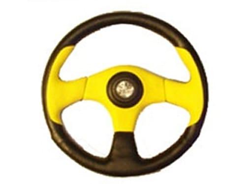 6 Hole Custom Steering Wheel - Black, Yellow