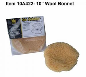 10″ Wool Blend Bonnet for Buffing and wax Removal