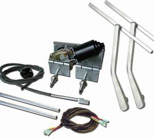 Heavy Duty Power Windshield Wiper Kit with Bottom Mount Wiper Arms