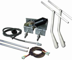 Heavy Duty Power Windshield Wiper Kit with Top Mount Wiper Arms