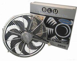 14″ Chrome 2122 fCFM High Performance Blu Cooling Fan
