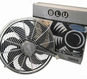 14″ Chrome 2122 fCFM High Performance Blu Cooling Fan