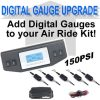Digital Air Bag Pressure Gauge 5-Zone, 150psi **UPGRADE**