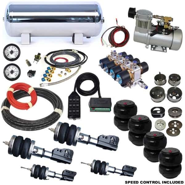 1996-2000 Dodge Caravan, Voyager, Town and Country Plug and Play Air Suspension Kit