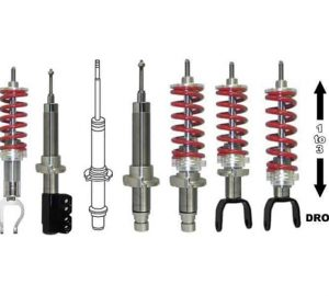 2005-2007 NISSAN FRONTIER Adjustable Lowered Coilover Struts – (1 to 3 inches)