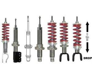 1999-2006 HONDA ODYSSEY Rear Adjustable Lowered Coilover Struts – (1 to 3 inches)