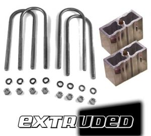 5″ Universal Lowering Block Kit with U-Bolts